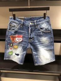 Wholesale Mens Skinny Denim Shorts - Fashion designer Shorts Jeans type Skinny Button Fly Mens Jeans Micro-stretch Denim Desinger D03-D05 Slim Fit Make Shabby holes top Men