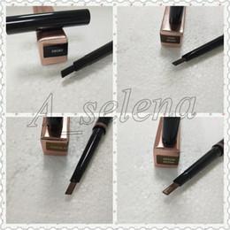 Wholesale Medium Pencil - Hot new MAKEUP Double eyebrow pencil BROW PENCIL ebony  DARK BROWN   MEDIUM BROWN chocolate DHL Free