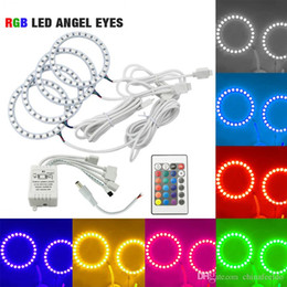 2019 luz led led Carro RGB LED Anjo Olhos Anel de Halo Luz Kit de Controle Remoto Sem Fio Para Lada VAZ 2114 Multi-Color # 1161 desconto luz led led