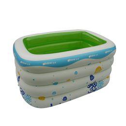 Wholesale inflatable paddling pools - New Printed Inflatable Swimming Pool Bathtub Babys Piscine Children Havuz Paddling Pool PVC Piscina Size 143*105*75CM