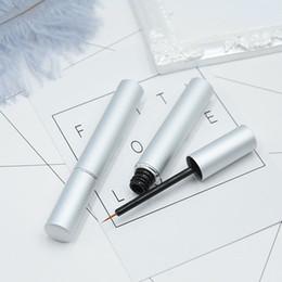 Wholesale plastic storage tubes - 3ml Empty Cosmetic Eyeliner Tube, DIY Plastic silver Eyelashes Growth Liquid Bottle, Eyelash Glue Storage F273