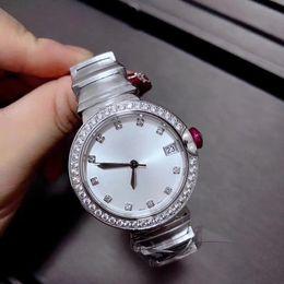 Rhinestone reloj bandas online-Banda de acero inoxidable de calidad superior vestido de las mujeres reloj de las mujeres rhinestone relojes cuarzo dama reloj de pulsera reloj de zafiro espejo