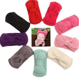 Wholesale head photo - Girls Baby Crochet Knitted Headband Winter Warmer Hair Band Girls Hair Accessories Photo Props Head bands Hair Accessories KKA4043