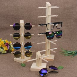 Wholesale wooden jewelry display stands - TONVIC Wood Display Stand For Sunglass 3D Glass Glasses Display Stand Holder Rack Easy Assembly New Arrival