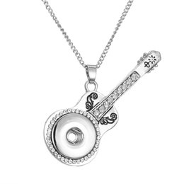Wholesale Guitars Heart - Silver Interchangeable Snap Button Necklace Fit 18mm DIY Snap Button Star Guitar Heart Flower Pendant Ginger Snap Jewelry For Women Gift
