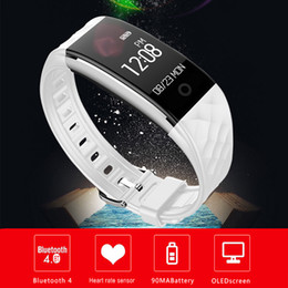 bluetooth oled Rabatt Bluetooth 4.0 S2 Smart Armband IP67 Wasserdichte Smart Watch Band S2 Pulsmesser Sport Rekord OLED Smartband Bluetooth Armband