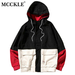 Wholesale Color Block Coat Jacket - Mcckle 2017autumn Color Block Patchwork Corduroy Hooded Jackets Men Hip Hop Hoodies Coats Male Casual Streetwear Outerwear