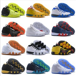 2018 Fashion Irving 4 Men Basketball Shoes For Sale High Quality 4s Colours Black White Gold Uncle Drew Sports Sneakers Size 7 12