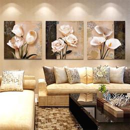 2019 peintures tulipes abstraites Mur Art Home Decor Cadre Toile Photos 3 Pièces Abstraite Tulip Fleurs Peintures Pour Le Salon HD Prints Affiches peintures tulipes abstraites pas cher