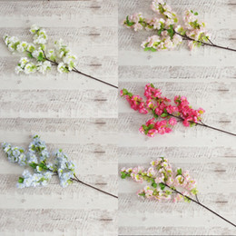 cherry blossom party decorations Coupons - Simulation Cherry Blossom Flowers Multi Color Artificial Flower Wedding Party Decorations New Hot Sale 5 8xs C R