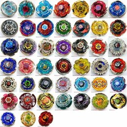 Wholesale games modelling - DHL 45 MODELS Beyblade Metal Fusion 4D With Launcher Beyblade Spinning Top Set Kids Game Toys Christmas Gift For Children Box Pack HH7-1053