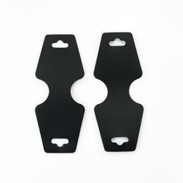 2019 bague en plastique en chine Collier d'emballage noir collier cartes 4.5 * 10.8cm