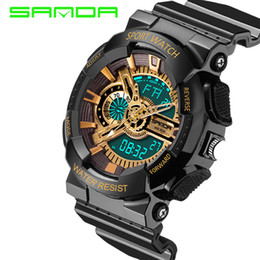 Wholesale Delicate Watches - 2016 Fashion Men Women Delicate Waterproof Digital Quartz Watches Sports Anti-seismicDual Time Multi Color Wristwatch OP001