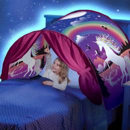разработка детских кроватей Скидка 8 Дизайн инновационных волшебный сон палатки с легким ребенком всплывающее кровать палатка Playhouse спальный мешок зимняя страна чудес для детей