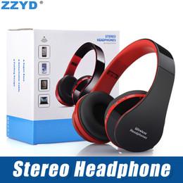 Bluetooth portatile dvd online-ZZYD NX-8252 Cuffie Bluetooth senza fili pieghevole Cuffie stereo a bassissimo effetto stereo per iP 8 8P X Samsung Note8 DVD MP3