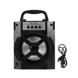 Wholesale Floor Standing Loudspeakers - MS-134BT Outdoor Hand-held Wireless Bluetooth Speaker Mobile Loudspeaker with USB MP3 TF AUX FM Radio Outdoor Bass ZC1269600