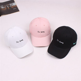 Letter I m Busy Adult Cotton Drake Bone Dad Hat k-pop Baseball Cap Hip Hop Snapback  Sun Caps 35cd6f0efdc4
