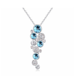 Wholesale Crystal Bubble Pendant - Original Crystals From Swarovski Pendants Bubble Necklaces For Women Party Jewelry Mother's Day Gift