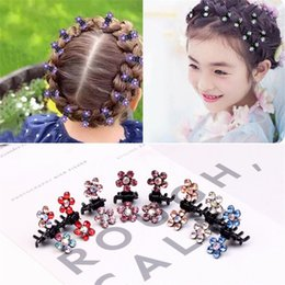 8f45a6bf935f1 12pcs pack Crystal Rhinestone Flower Hair Claw Hairpins Hair Accessories  Ornaments Clips Hairgrip for Kids Girl