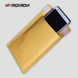 Wholesale Door Buffers - Wholesale-HARD IRONYellow Color Kraft Paper Air Bubble Bags Shockproof Kraft Bubble Envelope pouches Buffer Moisture-proof static Mailing