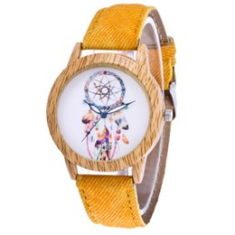 Wholesale Purple Ladies Jeans - Luxury High Quality Lady Fashion Simple Style Analog Watch Women Jeans Strap Modern Dressing Watch Femal Casual Feather Pin Buckle Clock