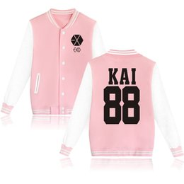 Wholesale Exo K - Harajuku Fashion K-POP EXO Concert Fans Supportive Oversized Hoodies Sweatshirts Men Women BAEKHYUN CHEN SEHUN Hip Hop Tracksuit