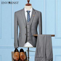 Wholesale Black Pinstripe Dress - 2017 Spring New 5 Color Men's Suits For Weddings Italy Fitted Pinstripe Suit Gentle Cotton Blazers 3 piece Men Dress Suit XXXL