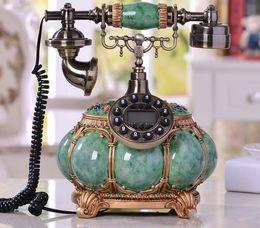 Wholesale antique metal telephones - European style rural retro telephone, high-end villas, landline telephones, home fashion decorative rope fixed telephone