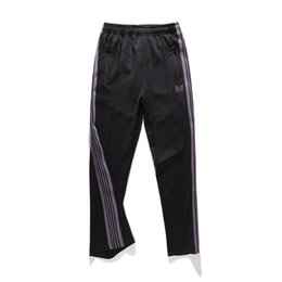 3ffbba0526 17FW Black Pants Butterfly Embroidery Sweatpants Stripe Casual Trousers Men  Women Couple Trousers Sports Pants Fashion HFLSKZ015