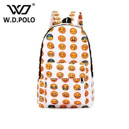 Wholesale Canvas Book Bags For Women - WDPOLO NEW canvas backpack women school backpack for teenager book bags unisex expresion printing travel bolsa bag H000