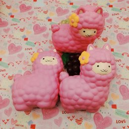 Wholesale Funny Christmas Decor - 16CM Cute Alpaca Squishy Sheep Phone Strap Decor Slow Rising Collection Kids Funny Sheep Toy Christmas