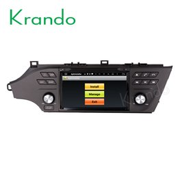 "toyota radio android Australia - Krando Android 7.1 8"" car dvd navigation multimedia system for toyota avalon 2013-2017 radio gps dvd player bluetooth wifi 3g dab+"