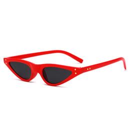 Deutschland Niedriger Preis Großhandel Retro-Brillen Neue Art UV-Schutz Sonnenbrille Frauen Tiny Cat Eye Frauen Sonnenbrillen Versorgung