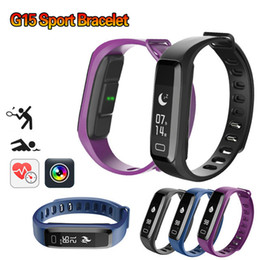 Wholesale Pet Fitness - Hot G15 Fitness Bracelet Pedometer Watches Blood Pressure Smart Bracelet Heart Rate Monitor Smartband Fitness Watch