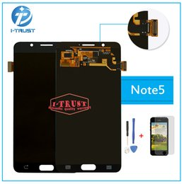 Wholesale Digitizer For Galaxy Note - AMOLED For Samsung Galaxy Note 5 N920A N9200 SM-N920 N920C LCD or Display Touch Screen Digitizer with free repair tools & Free DHL Shipping