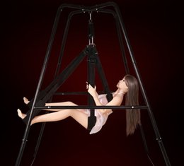 Wholesale Wholesale Adult Furniture - Sex Swing with Support Frame Elastic Bungee rope sex Swing Adult Products Swing chair Bed sex Furniture