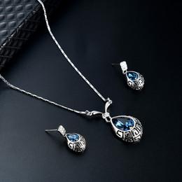 43259562772d2b bijoux fantaisie Promotion Collier de bijoux et boucles d oreilles en  cristal de fantaisie de