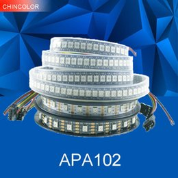 Argentina APA102 tira DC5V direccionable 30led 60led 144led por metro Smart led pixel light IP30 IP65 IP67 DATA y CLOCK por separado UW supplier per meter Suministro