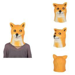 2019 animais máscara facial crianças Dia das bruxas Animais Bonitos Mask Halloween Party Theme Party Masquerade Traje Acessórios de Látex Máscara Facial Completa Prop Crianças Brinquedos desconto animais máscara facial crianças