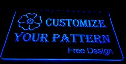 Wholesale Neon Lights Logo - F000 Customize your logo, signs or pattern 3D LED Neon Light Sign Dropshipping Wholes 8 colors Customize on Demand