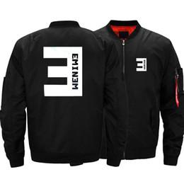 4168f248f678 USA SIZE Bomber da uomo Giacche Eminem Stampato Warm Zipper FLIGHT JACKET  Inverno addensare Uomo Cappotti Abbigliamento di marca di moda Nuovo giacche  ...