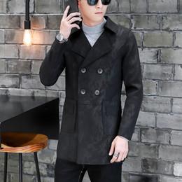 76668c54c Casaco de Trincheira dos homens outono inverno bonito juventude longo estilo  inglaterra jaquetas trespassado turn down collar mens jaqueta desconto  casaco ...