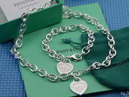 2019 bracelet de diamants platine (Bracelets + Colliers) Collier Sauté de Diamants et Tanzanite Collier en Argent 925 Pendentif Colliers Bracelets Bagues Charme promotion bracelet de diamants platine