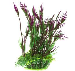 Piante di plastica colorate Acquario Pianta acquatica Acquario paesaggio davvero piante acquario acqua impostate falso plastica fiori decorazione primo piano da piante per il paesaggio fornitori
