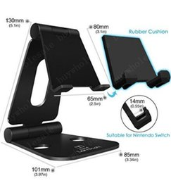 Wholesale Tablet Outlets - Foldable Bracket Stand Holder Aluminum Table Desk For ipad iphone 7 8 samsung note Tablet For Nintend Switch factory outlet
