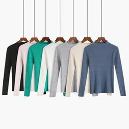 Cachemira Otoño Invierno Cálido Suéter de Las Mujeres de Moda manga larga suéter femenino de Alta Calidad señoras Pullovers Jumper Lana desde fabricantes