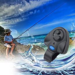 indicateur d'alarme Promotion Alarme sonore Fish Bite électronique Alerte lumineuse LED Bell canne à pêche Clip-On LED indicateur visible pour la pêche de nuit