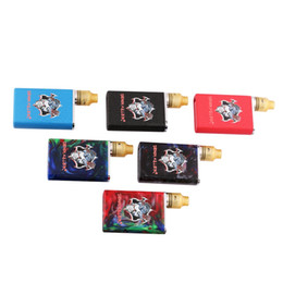 Wholesale Led Kit Red Blue - Authentic Demon Killer Tiny Kit Electronic Cigarette Metal and Resin Version 3 Colors 510 Connector Intuitive LED battery indicator DHL