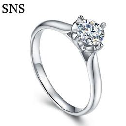 Anelli braccio stili online-0.3 14k White Gold Classic 4-Prongs Impostazione diamante naturale Halo Style per le donne