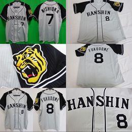 Wholesale Ripped Shorts For Men - 2015-16 Hanshin Tigers Japan Baseball Jersey Fukudome #8 #7 Tsuyoshi Nishioka Any Name And Number For Men Women Youth Alll Stiched Jerseys